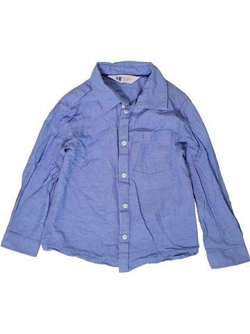 Chemise manches longues garçon H&M bleu 5 ans hiver #1403619_1