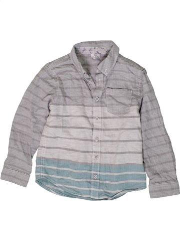 Chemise manches longues garçon F&F gris 5 ans hiver #1403719_1