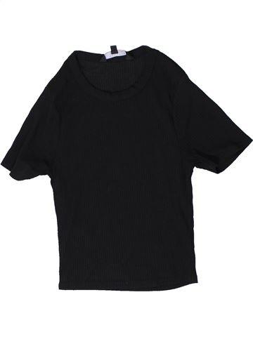 T-shirt manches courtes fille NEW LOOK noir 15 ans été #1403731_1