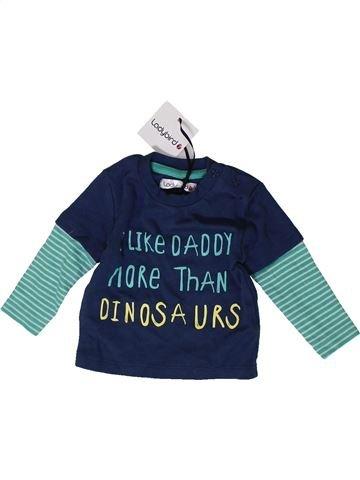 T-shirt manches longues garçon LADYBIRD bleu 3 mois hiver #1403732_1