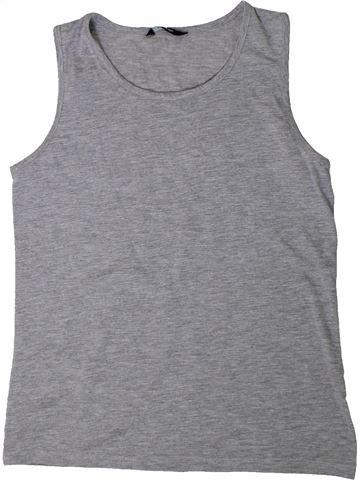 T-shirt sans manches fille GEORGE gris 12 ans été #1403835_1