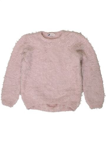 Pull fille H&M gris 8 ans hiver #1403870_1