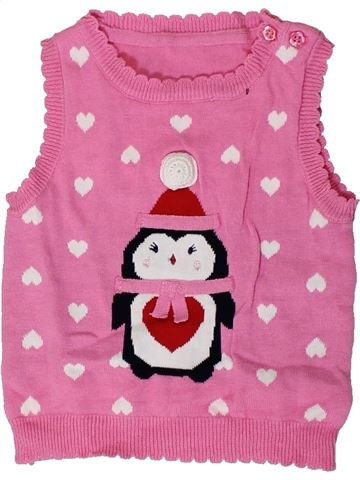 Pull fille GEORGE rose 12 mois hiver #1404026_1