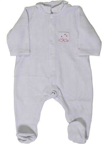 Pijama de 1 pieza niño PETIT BATEAU blanco 6 meses invierno #1405605_1