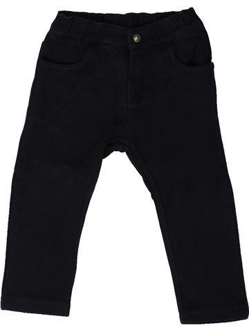 Pantalón niño PETIT BATEAU negro 18 meses invierno #1405866_1