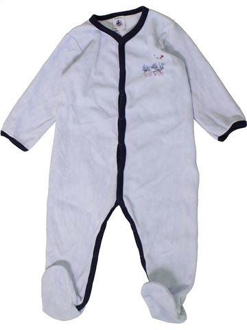 Pyjama 1 pièce garçon PETIT BATEAU blanc 18 mois hiver #1407453_1