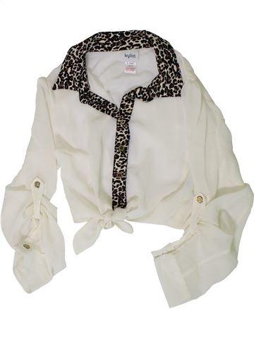 Blusa de manga larga niña KYLIE blanco 9 años verano #1408864_1
