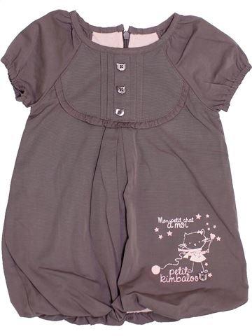 Vestido niña KIMBALOO gris 12 meses verano #1409500_1