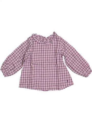Blusa de manga larga niña NATALYS rosa 6 meses invierno #1409586_1