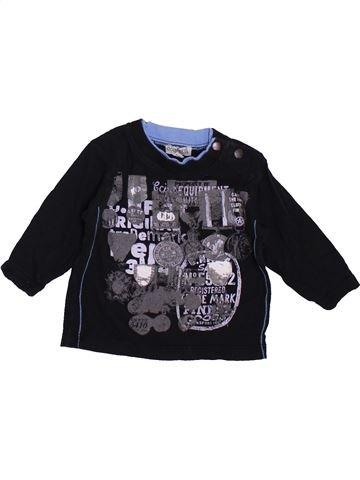 T-shirt manches longues garçon CONFETTI noir 6 mois hiver #1410079_1