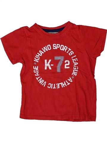 T-shirt manches courtes garçon LA REDOUTE CRÉATION rouge 3 ans été #1410166_1