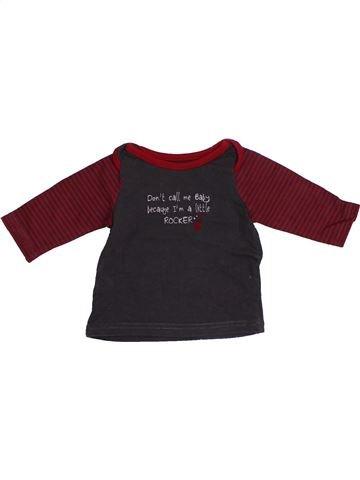 T-shirt manches longues garçon TAPE À L'OEIL marron 3 mois hiver #1410513_1
