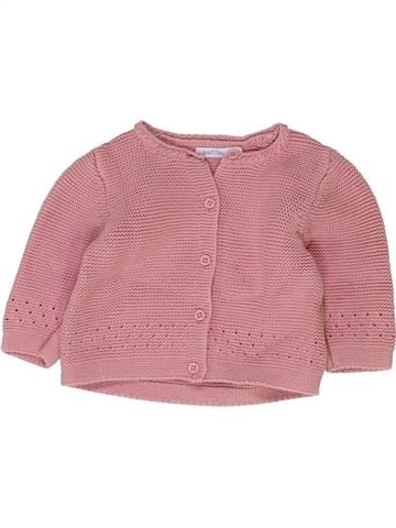 Gilet fille BOUT'CHOU rose 6 mois hiver #1410657_1