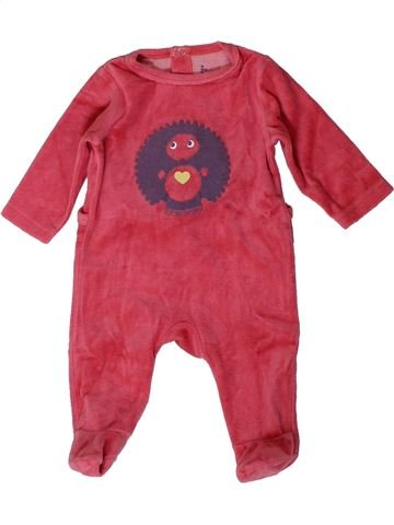 Pyjama 1 pièce fille SUCRE D'ORGE rose 3 mois hiver #1410946_1