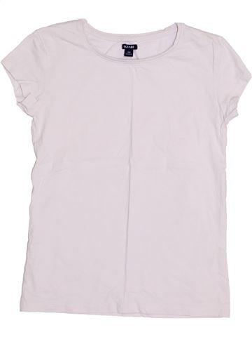 T-shirt manches courtes fille KIABI blanc 10 ans été #1410994_1