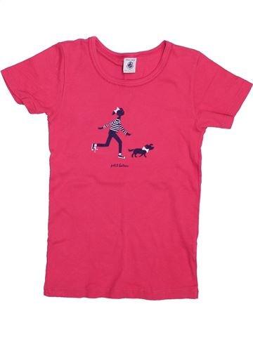T-shirt manches courtes fille PETIT BATEAU rose 10 ans été #1410996_1
