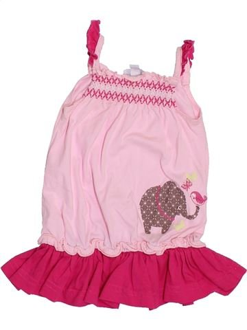 Camiseta sin mangas niña KIMBALOO rosa 6 meses verano #1411182_1