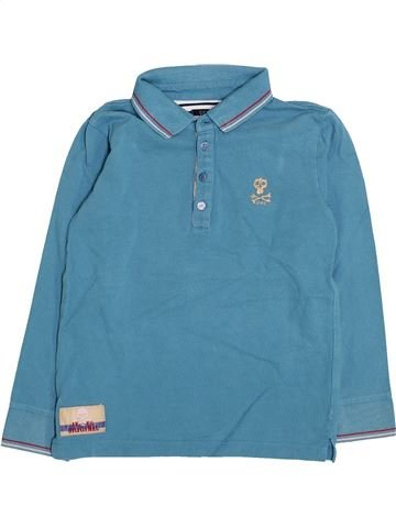 Polo manches longues garçon IKKS bleu 6 ans hiver #1411317_1