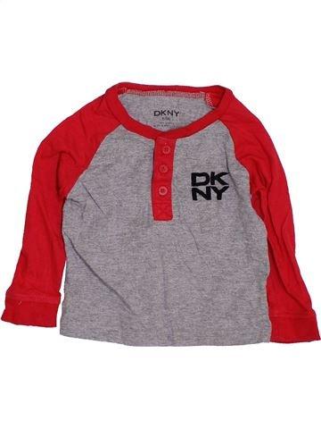 T-shirt manches longues garçon DKNY gris 9 mois hiver #1412658_1