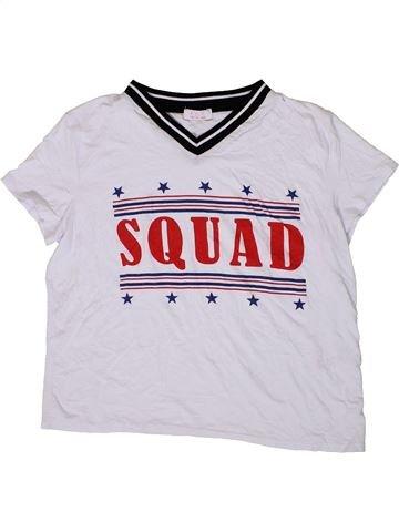 T-shirt manches courtes fille KYLIE blanc 13 ans été #1413819_1