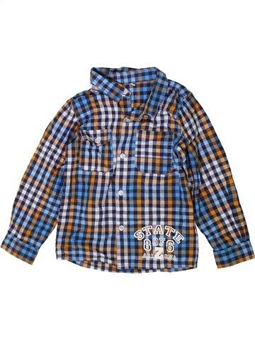 Chemise manches longues garçon NAME IT bleu 4 ans hiver #1414878_1