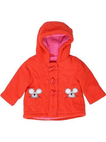 Manteau fille DEBENHAMS orange 9 mois hiver #1415281_1