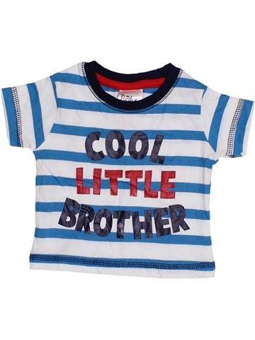T-shirt manches courtes garçon PEACOCK'S gris 3 mois été #1416038_1