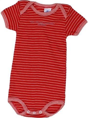 T-shirt manches courtes garçon PETIT BATEAU rouge 6 mois été #1416490_1