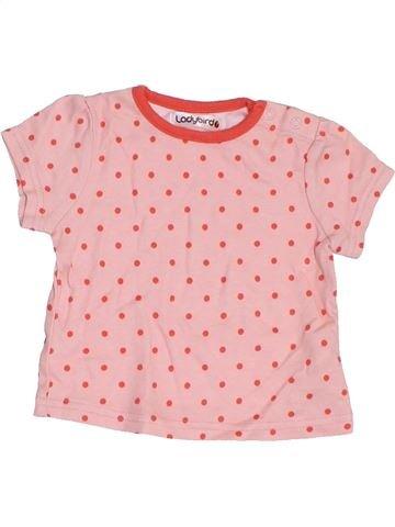 T-shirt manches courtes fille LADYBIRD rose 3 mois été #1417209_1
