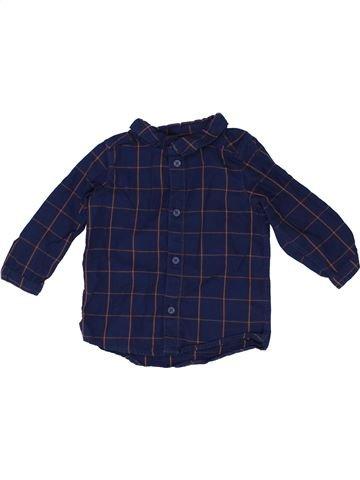 Chemise manches longues garçon H&M bleu 9 mois hiver #1417789_1