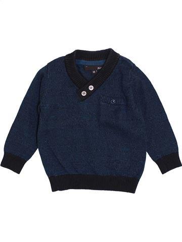 Pull garçon JBC bleu 6 mois hiver #1418658_1