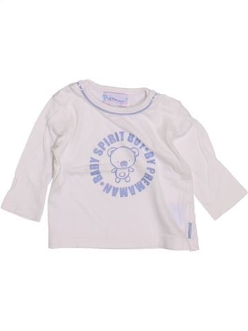 Camiseta de manga larga niño PREMAMAN blanco 3 meses invierno #1418660_1