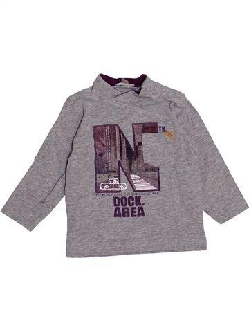 T-shirt manches longues garçon GRAIN DE BLÉ gris 6 mois hiver #1418778_1