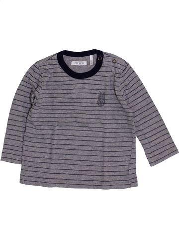 T-shirt manches longues garçon IKKS violet 6 mois hiver #1418944_1