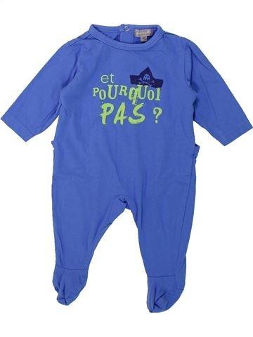 Pyjama 1 pièce garçon GRAIN DE BLÉ bleu 1 mois été #1419239_1
