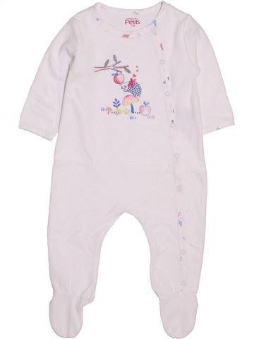 Pyjama 1 pièce fille LA COMPAGNIE DES PETITS blanc 12 mois hiver #1419745_1