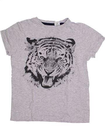 T-shirt manches courtes garçon LA REDOUTE CRÉATION gris 10 ans été #1419908_1