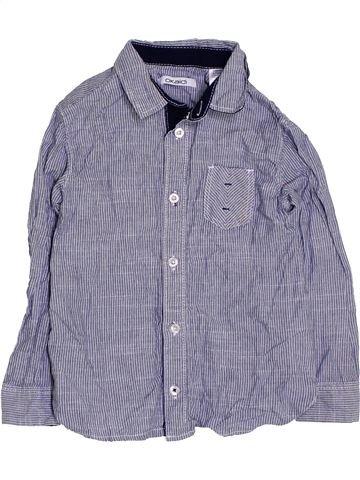 Chemise manches longues garçon OKAIDI gris 4 ans hiver #1419919_1