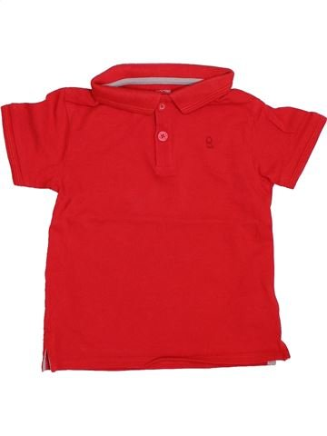 Polo manches courtes garçon OKAIDI rouge 3 ans été #1419926_1