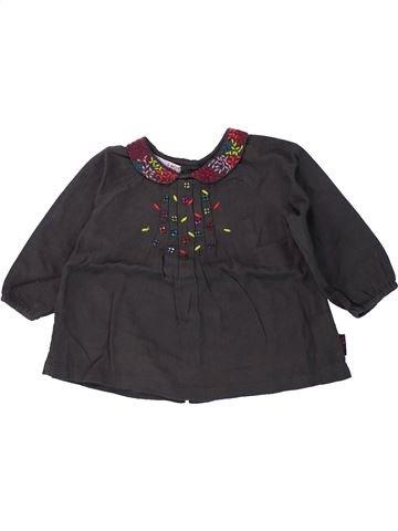 T-shirt manches longues fille DPAM noir 6 mois hiver #1420060_1