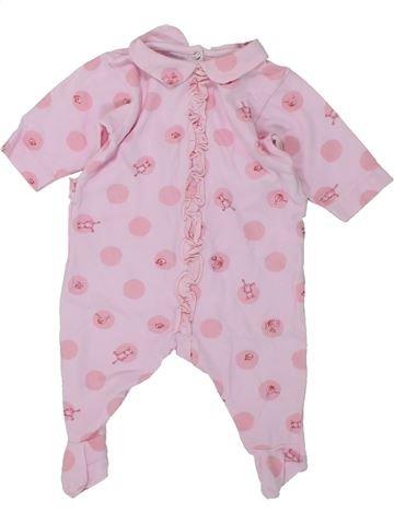 Pyjama 1 pièce fille PETIT BATEAU rose 1 mois été #1420290_1