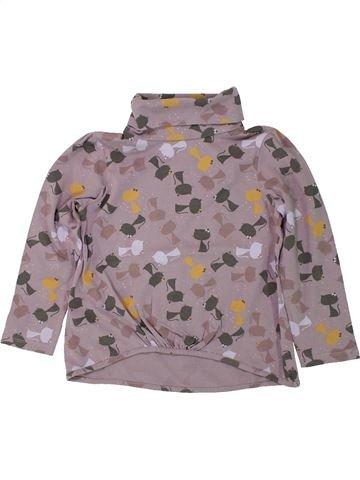 Camiseta de cuello alto niña VERTBAUDET violeta 4 años invierno #1420490_1