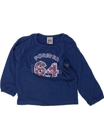 T-shirt manches longues fille 64 bleu 18 mois hiver #1420552_1