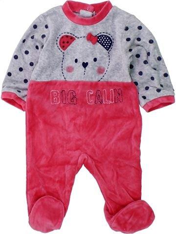 Pijama de 1 pieza niña ABSORBA rosa 3 meses invierno #1420555_1