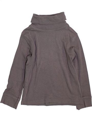 T-shirt col roulé fille LA REDOUTE CRÉATION gris 4 ans hiver #1420563_1