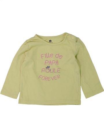 T-shirt manches longues fille GRAIN DE BLÉ beige 12 mois hiver #1420683_1