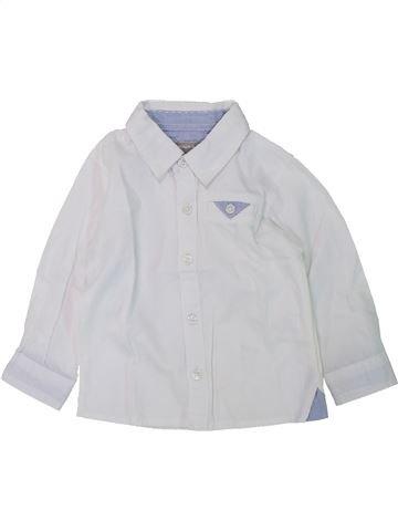 Chemise manches longues garçon GRAIN DE BLÉ blanc 6 mois hiver #1420691_1