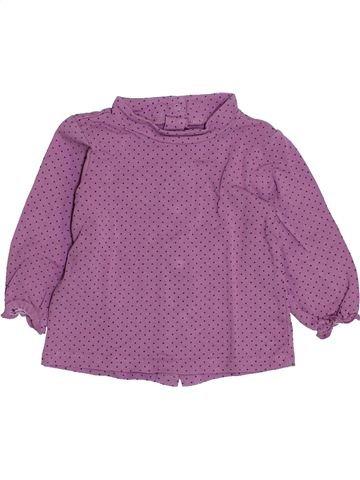 Camiseta de manga larga niña VERTBAUDET violeta 9 meses invierno #1420747_1