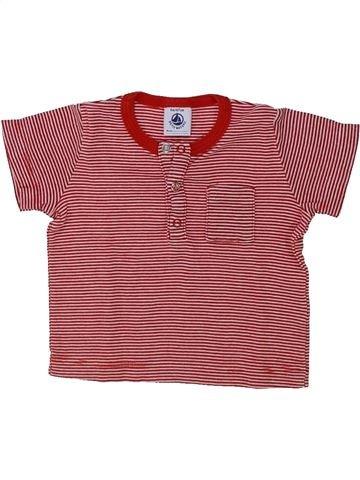 T-shirt manches courtes garçon PETIT BATEAU rouge 6 mois été #1421122_1