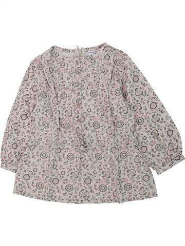 Blusa de manga larga niña VERTBAUDET gris 2 años invierno #1421598_1
